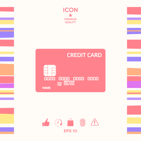 Credit card icon. Element for your design . Signs and symbols - graphic elements for your design