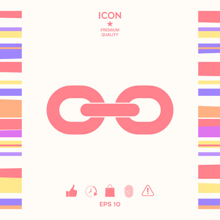 Link chain icon . Signs and symbols - graphic elements for your design