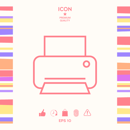 Print line icon . Signs and symbols - graphic elements for your design Illustration