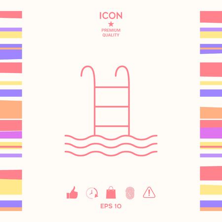 Pool icon . Signs and symbols - graphic elements for your design Illustration