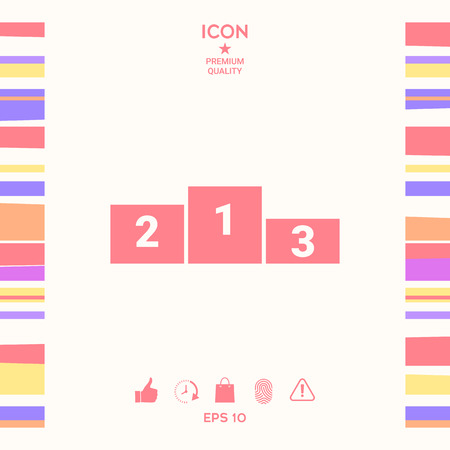 Pedestal podium - icon . Signs and symbols - graphic elements for your design  イラスト・ベクター素材