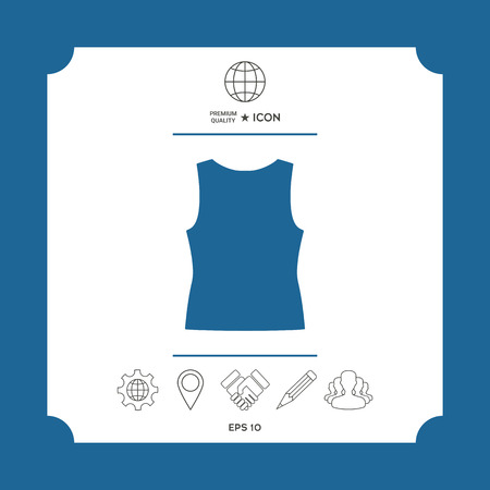 Women T-shirts, the silhouette. Menu item in the web design . Signs and symbols - graphic elements for your design