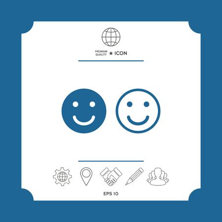 Smile Icon. Happy face symbol for your web site design