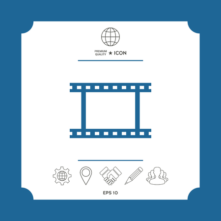 Camera Roll, photographic film, camera film symbol icon Illustration