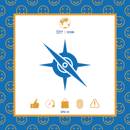 Compass symbol icon. Element for your design . Signs and symbols - graphic elements for your design