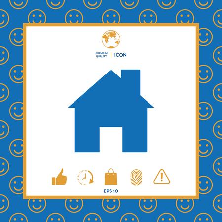Home icon symbol Illustration