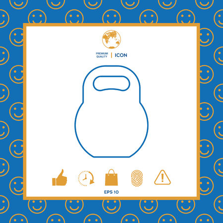 Kettlebell line icon