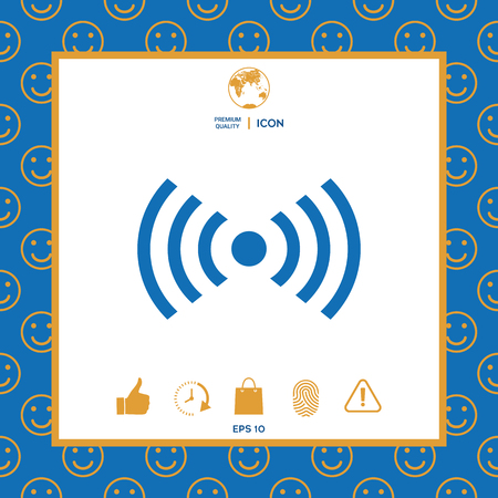 Internet connection icon . Signs and symbols - graphic elements for your design Illusztráció