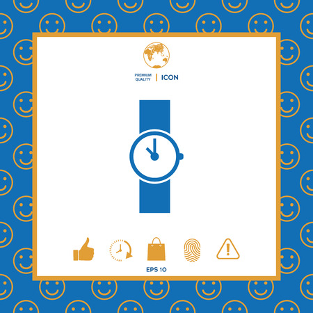 Wristwatch icon . Signs and symbols - graphic elements for your design
