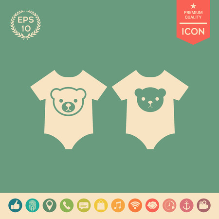 Baby Strampler Symbol. Element für Ihr Design. Zeichen und Symbole - grafische Elemente für Ihr Design Vektorgrafik