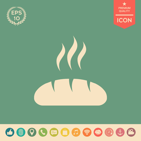 Bread symbol icon. Element for your design . Signs and symbols - graphic elements for your design Illustration