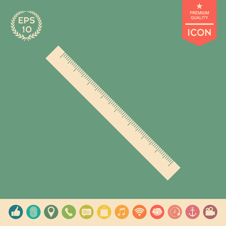 The long ruler icon . Signs and symbols - graphic elements for your design