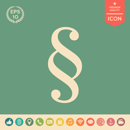 Paragraph icon . Signs and symbols - graphic elements for your design Vektorové ilustrace