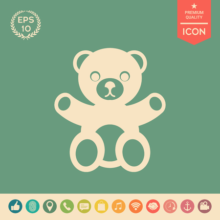 Teddy bear icon . Signs and symbols - graphic elements for your design
