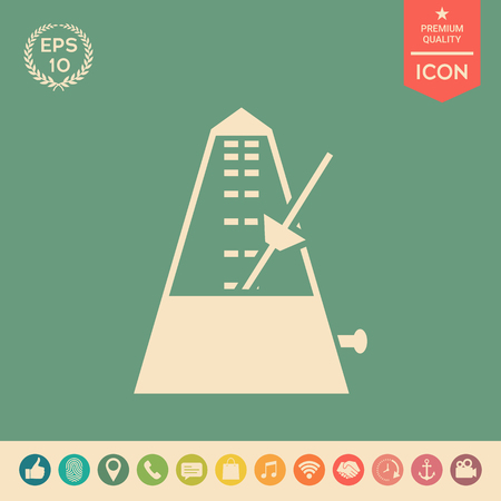 Metronome icon . Signs and symbols - graphic elements for your design
