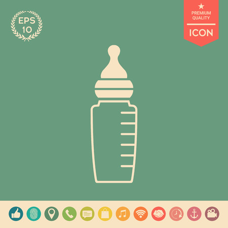 Baby feeding bottle icon. Element for your design . Signs and symbols - graphic elements for your design