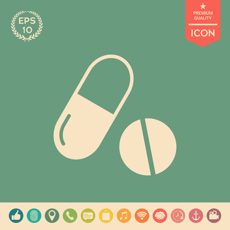 Medicines pills - Capsule and pill icon