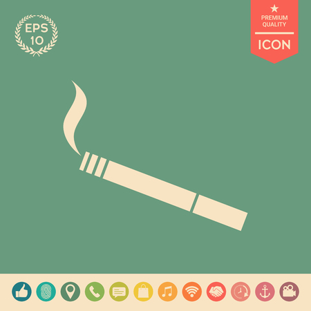 Cigarette symbol icon. Element for your design . Signs and symbols - graphic elements for your design Illustration