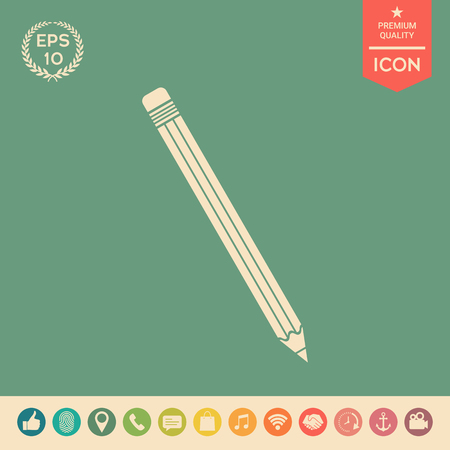 Pencil icon . Signs and symbols - graphic elements for your design