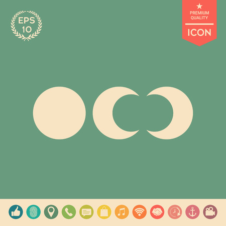 Phases of the moon icons . Signs and symbols - graphic elements for your design Vectores