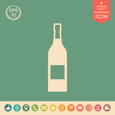 Bottle of wine icon. Element for your design . Signs and symbols - graphic elements for your design