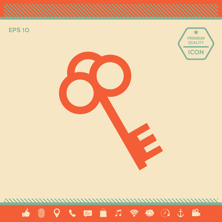 Key icon . Signs and symbols - graphic elements for your design Illustration