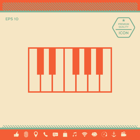 Piano keyboard icon . Signs and symbols - graphic elements for your design Illusztráció