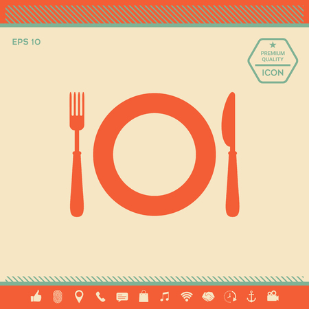 Restaurant icon . Signs and symbols - graphic elements for your design Vectores
