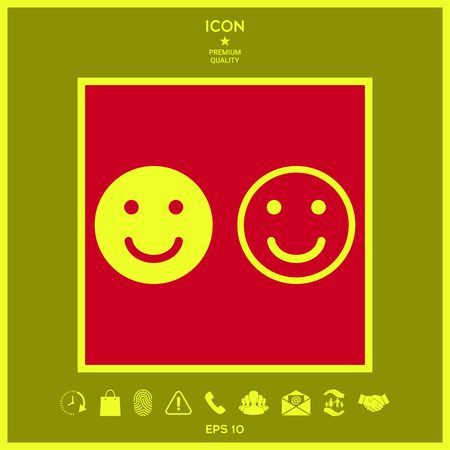 Smile Icon. Happy face symbol for your web site design