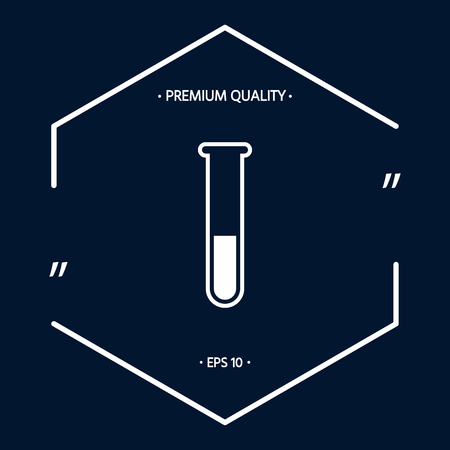 Test-tube icon . Signs and symbols - graphic elements for your design