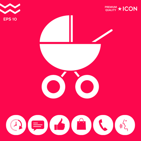 Baby carriage icon. Element for your design . Signs and symbols - graphic elements for your design