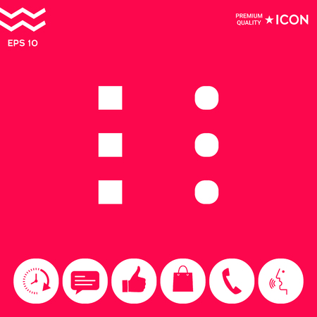 Menu icon for mobile apps and websites . Signs and symbols - graphic elements for your design  イラスト・ベクター素材