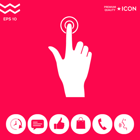 Hand click icon . Signs and symbols - graphic elements for your design Illustration