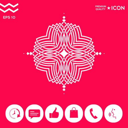 Geometric oriental pattern. Logo for design