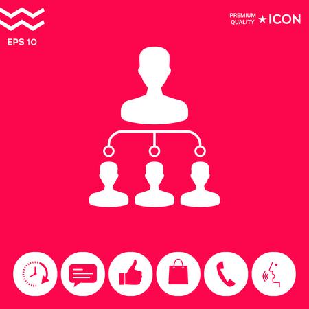 Hierarchy icon symbol Illustration
