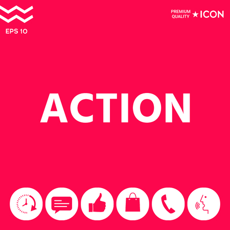 Action button symbol