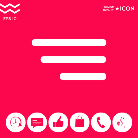 Modern menu icon for mobile apps and websites . Signs and symbols - graphic elements for your design