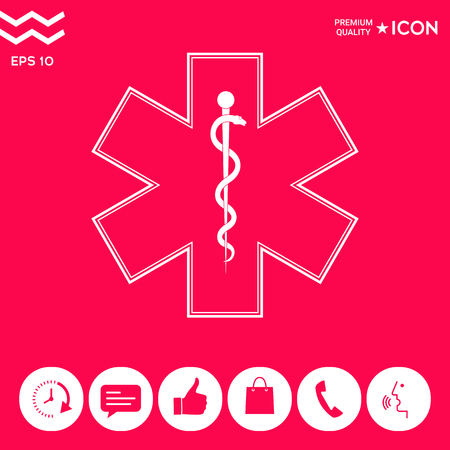 Medical symbol of the Emergency - Star of Life icon