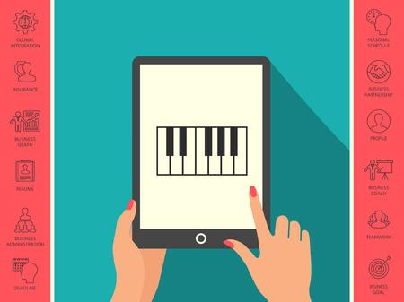 Piano keyboard icon Vectores