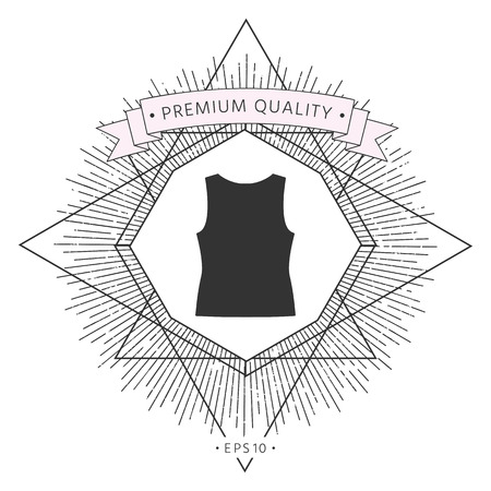 Women T-shirts, the silhouette. Menu item in the web design Illustration