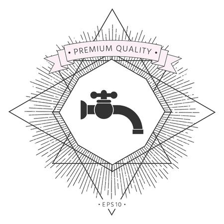Faucet icon . Signs and symbols - graphic elements for your design Illusztráció
