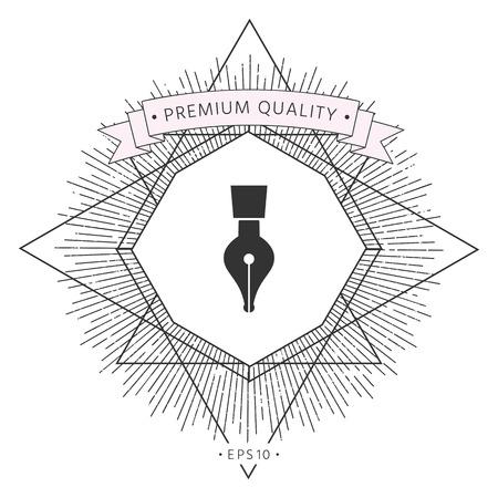 Quill pen icon  イラスト・ベクター素材