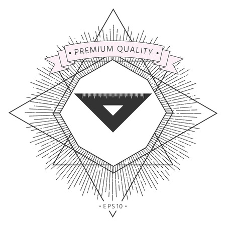 The ruler triangle icon Illustration