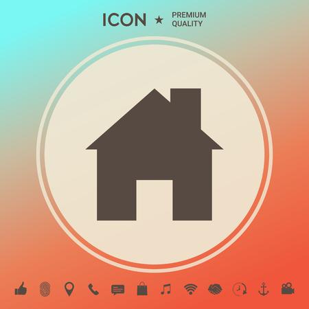 Home icon symbol Ilustrace