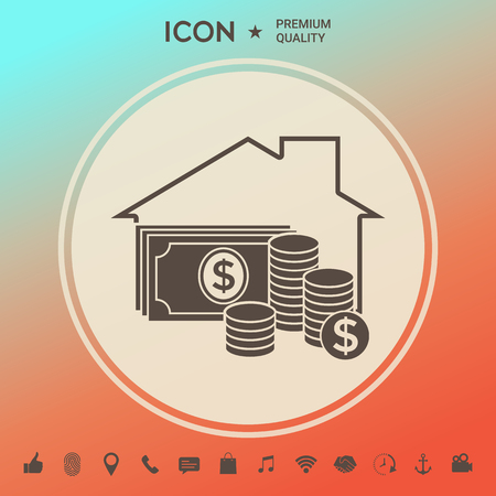 Home insurance icon Ilustrace