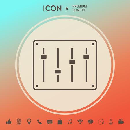 Icône de console de mixage sonore. Signes et symboles - éléments graphiques pour votre conception Vecteurs