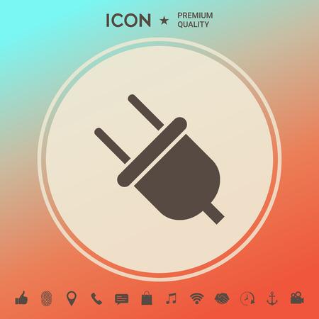 Plug icon symbol Illustration