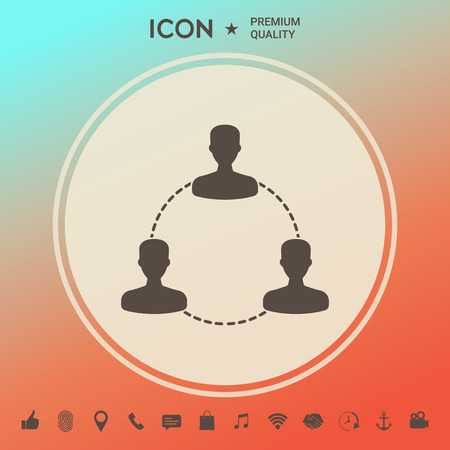 Human connection symbol, icon