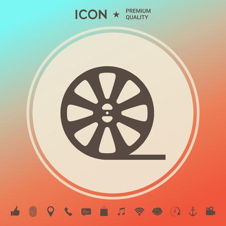 Reel film icon Vectores