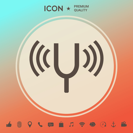 Tuning fork icon . Signs and symbols - graphic elements for your design
